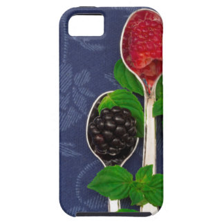 Capa Tough Para iPhone 5 fundo da fruta de baga