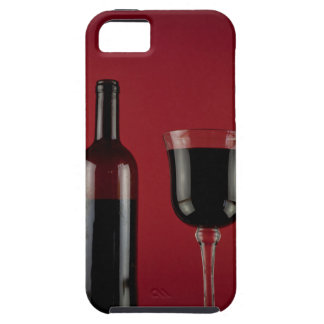 Capa Tough Para iPhone 5 Garrafa de vidro de vermelho de vinho