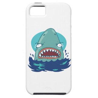 Capa Tough Para iPhone 5 grandes desenhos animados engraçados do tubarão