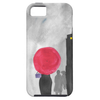 Capa Tough Para iPhone 5 Guarda-chuva vermelho