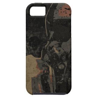 Capa Tough Para iPhone 5 Homem com máscara protetora na placa de metal