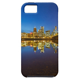 Capa Tough Para iPhone 5 Hora do azul da skyline da cidade de Portland OU