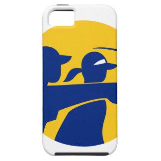 Capa Tough Para iPhone 5 Ícone do Caddie e do jogador de golfe