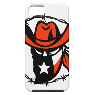 Capa Tough Para iPhone 5 Ícone foragido do fio de Barb da bandeira de Texas