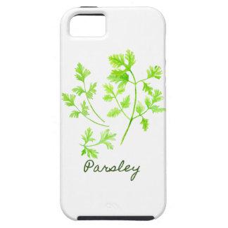 Capa Tough Para iPhone 5 Ilustração da salsa da erva da aguarela