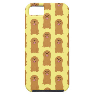 Capa Tough Para iPhone 5 Ilustração feliz do golden retriever