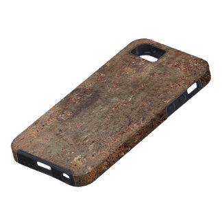 Capa Tough Para iPhone 5 Impressão velho do couro do falso