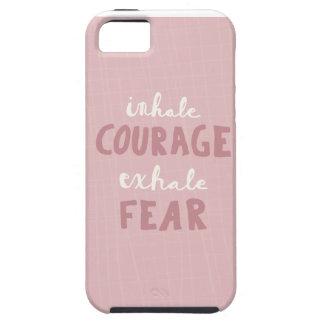 Capa Tough Para iPhone 5 Inale a coragem expiram o medo