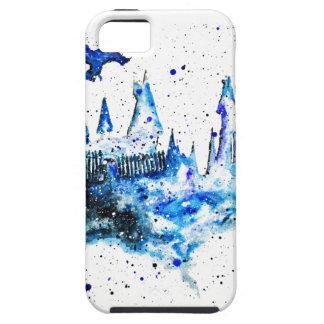 Capa Tough Para iPhone 5 iPhone medieval azul pintado mão 5/5S/SE do