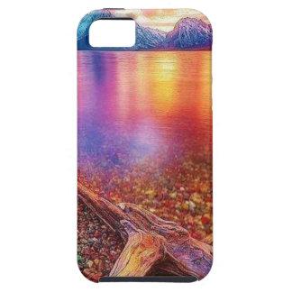 Capa Tough Para iPhone 5 Lago stone de gema