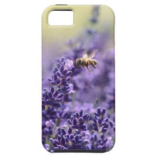 Capa Tough Para iPhone 5 Lavanda e abelhas