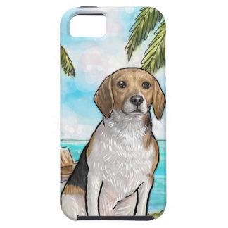 Capa Tough Para iPhone 5 Lebreiro na praia tropical das férias