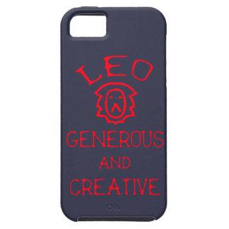 Capa Tough Para iPhone 5 Leo (texto vermelho)