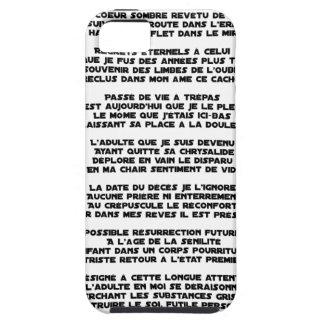 Capa Tough Para iPhone 5 Levando o Luto da minha Infância - Poema