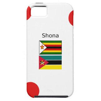Capa Tough Para iPhone 5 Língua de Shona e bandeiras de Zimbabwe e de