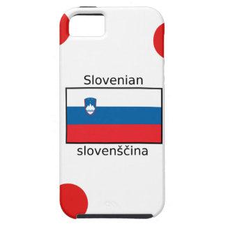Capa Tough Para iPhone 5 Língua e design eslovenos da bandeira de Slovenia