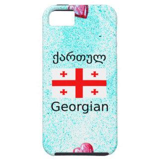 Capa Tough Para iPhone 5 Língua e design Georgian da bandeira