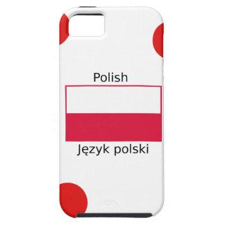 Capa Tough Para iPhone 5 Língua e design poloneses da bandeira do Polônia