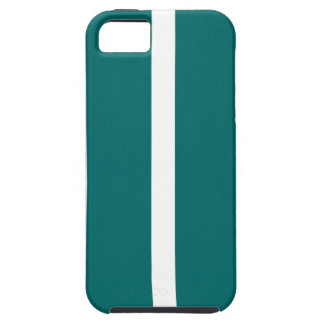 Capa Tough Para iPhone 5 Listra corajosa da cerceta