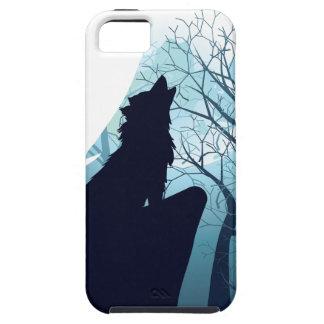 Capa Tough Para iPhone 5 Lobo que urra com Forest2-01