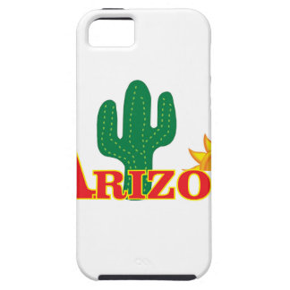 Capa Tough Para iPhone 5 Logotipo da arizona simples