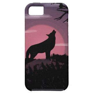 Capa Tough Para iPhone 5 Lua cheia do lobo