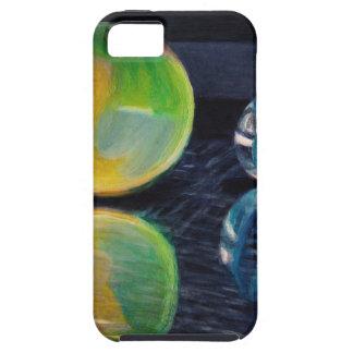 Capa Tough Para iPhone 5 Luz de mármore
