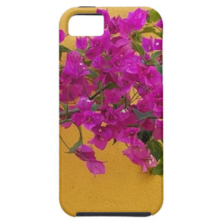 Capa Tough Para iPhone 5 Luz do sol amarela do arco da flor do rosa da