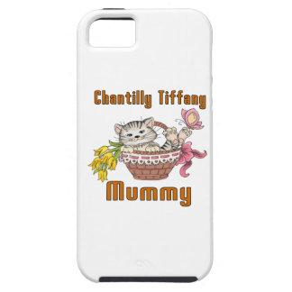 Capa Tough Para iPhone 5 Mamã do gato de Chantilly Tiffany