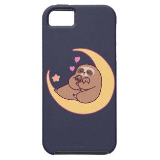 Capa Tough Para iPhone 5 Mama Preguiça e bebês da lua