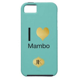 Capa Tough Para iPhone 5 Mambo Playfully elegante do coração de I