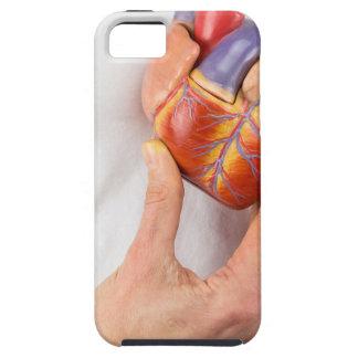 Capa Tough Para iPhone 5 Mão que guardara o coração modelo na caixa