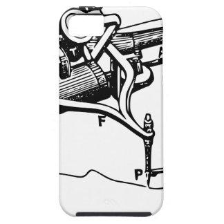 Capa Tough Para iPhone 5 Mão que repara o dispositivo velho