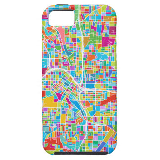 Capa Tough Para iPhone 5 Mapa colorido de Atlanta
