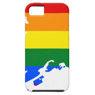 Capa Tough Para iPhone 5 Mapa da bandeira de Alaska LGBT
