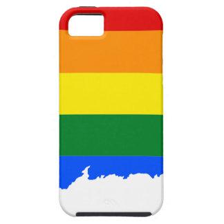 Capa Tough Para iPhone 5 Mapa da bandeira de Connecticut LGBT