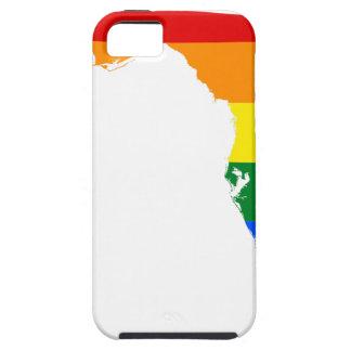 Capa Tough Para iPhone 5 Mapa da bandeira de Florida LGBT