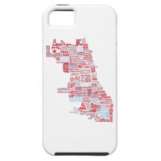 Capa Tough Para iPhone 5 Mapa da vizinhança de Chicago