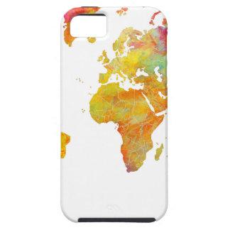 Capa Tough Para iPhone 5 mapa do mundo