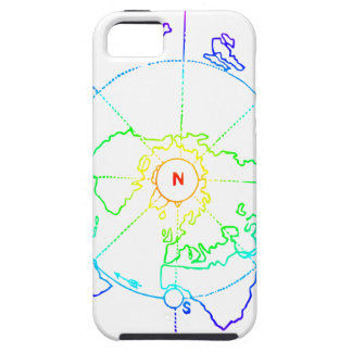 Capa Tough Para iPhone 5 Mapa equidistante Azimuthal Zetetic