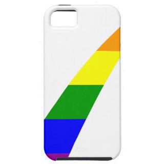 Capa Tough Para iPhone 5 Marca de verificação do arco-íris da Multi-Cor