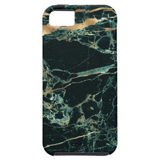 Capa Tough Para iPhone 5 Mármore de PixDezines, verde da cerceta + Veias do
