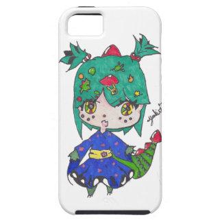 Capa Tough Para iPhone 5 menina do dragão editada