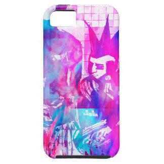 Capa Tough Para iPhone 5 Menina do gótico do algodão doce e gajo do punk