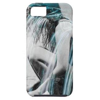 Capa Tough Para iPhone 5 Menina na cachoeira
