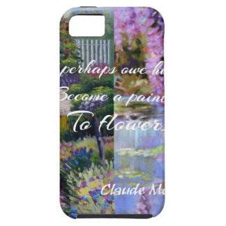 Capa Tough Para iPhone 5 Mensagem de Monet sobre flores