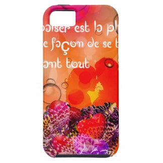 Capa Tough Para iPhone 5 Mensagem do amor com corações coloridos