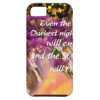Capa Tough Para iPhone 5 Mesmo no momento o mais escuro a fé não é perdida