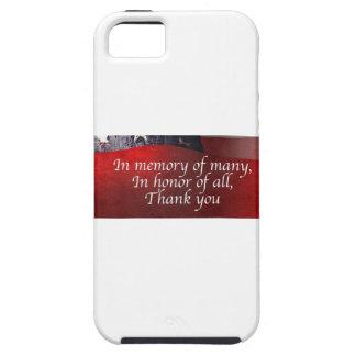 Capa Tough Para iPhone 5 Na memória de muitos em honra de todo o obrigado