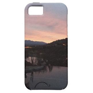 Capa Tough Para iPhone 5 Nascer do sol lateral da piscina